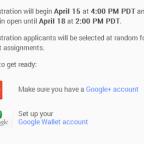 Google I/O 2014 報名時間
